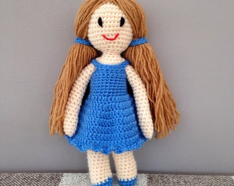 Handmade girl rag doll