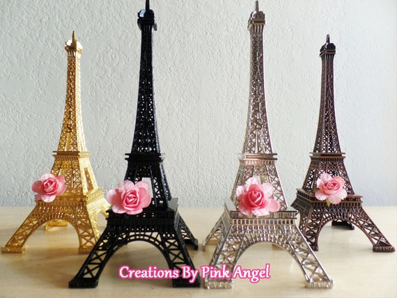 "10"" Metal Eiffel Tower Cake Topper, Paris Wedding, Eiffel Tower Centerpiece, Eiffel Tower Replica, Paris Bridal Shower, Paris Baby Shower"