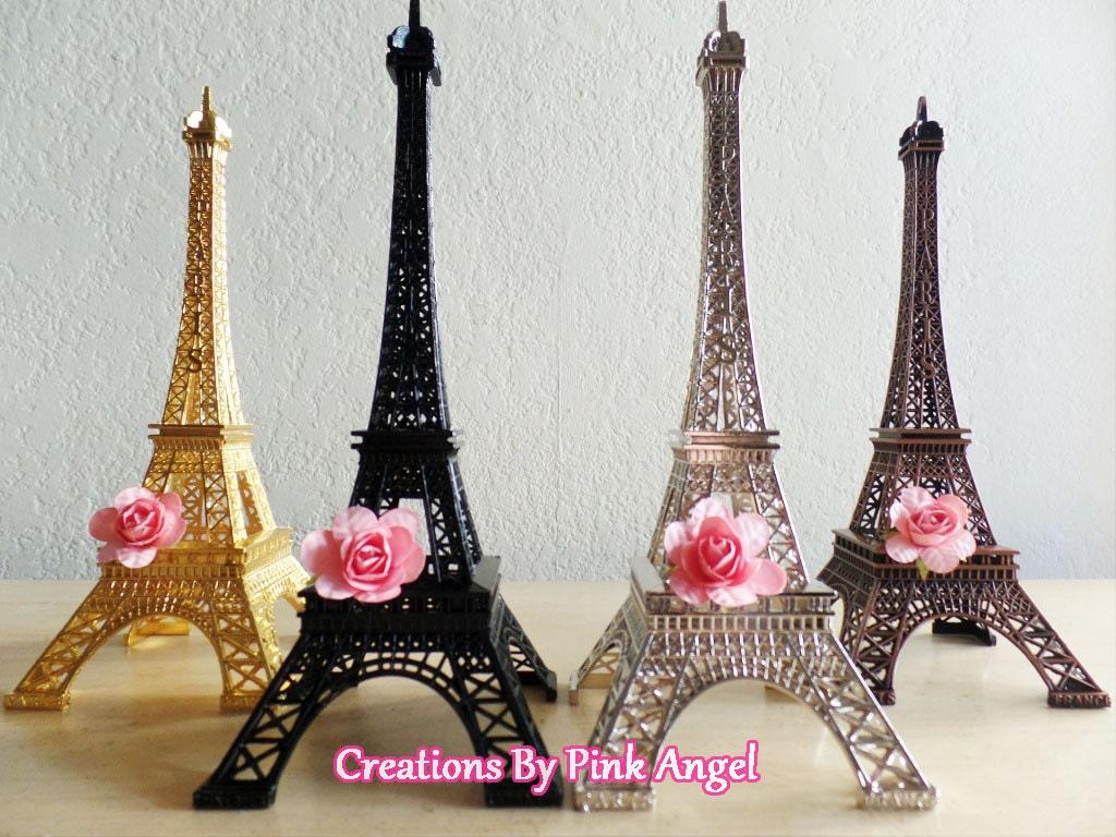 10 Metal Eiffel Tower Centerpiece Paris By CreationsByPinkAngel