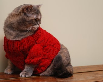 Knitting Pattern Cat Clothes : MerrycatShop Cat Clothes by MerrycatShop on Etsy