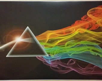 """Pink Floyd The Dark Side Of The Moon WIDE GIANT 42"""" x 24""""  Digital Poster Print"""
