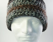 Crochet Chunky Mens Womens Teen Earth Tones Skull Winter Beanie Cap Hat