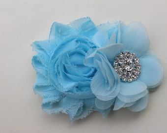 Baby blue flower girl bows light blue frozen bows blue wedding hair clip toddler Frozen hair bow blue bridesmaid hair clip frozen hair clips