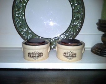 Pfaltzgraft Vintage Village Sweetener and Creamer Crock with Lid