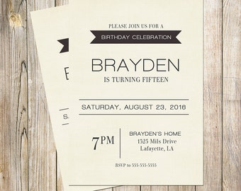 Boys Birthday Invitation, Kids Invitation, Boys Birthday, Birthday Invitation, Childrens Invitation, 1st Birthday, 2nd Birthday