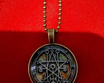 Astaroth sigil demonic seal satanic ritual occult magick pendant necklace