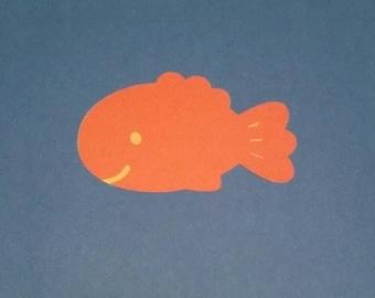5 inch set of 10 die cut fish