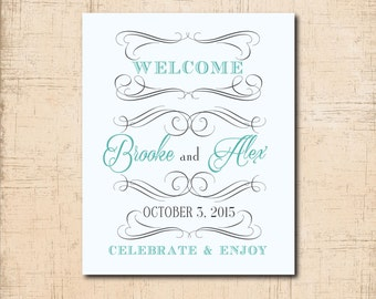 Wedding Welcome Tag for Hotel Bag/Basket / DIGITAL FILE / printable / 4.5  x 5.5 / can be any size / ink colors can be changed