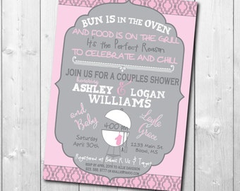 Couples Baby Shower Invitation / DIGITAL FILE / printable / wording can be changed