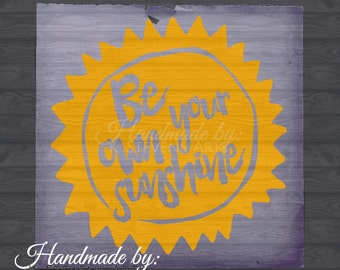 Sunshine Decal - Svg File - Sun File for Silhouette - Sunshine Svg Cutting File For Cricut - Sun File Svg - Quote Svg - Sun Decal