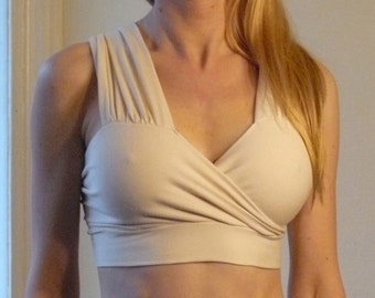 Custom Organic Cotton Bra - White