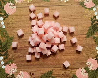 Tea Party Baby Shower Sugar Cubes Hearts- Homemade for tea, coffee.
