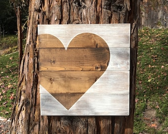 Rustic Home Decor,Rustic Home Sign,Heart Sign,Rustic Heart Decor,Pallet Sign,Pallet Decor,Wedding Gift,Wedding Sign,Wedding Decor