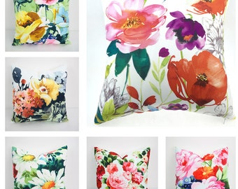 Floral Pillow Cover, Pillow, Pillow Cover, Throw Pillow, Decorative Pillow, Decorative throw pillows, Outdoor pillows, Cushion, Pillow case