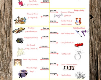 Wedding Party Timeline