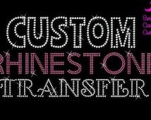 Custom Rhinestone Transfer-Design Deposit