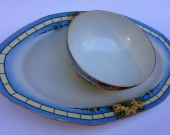 Vintage Z. S. and Company Bavaria /Appetizer plate with dipping bowl