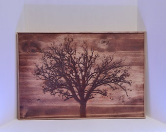 Wood Carving: Leafless Tree