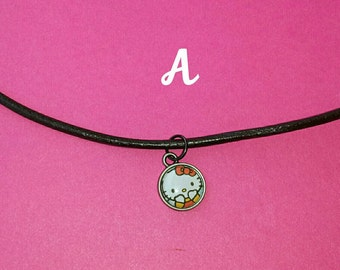Hipster necklace inspired by Hello Kitty