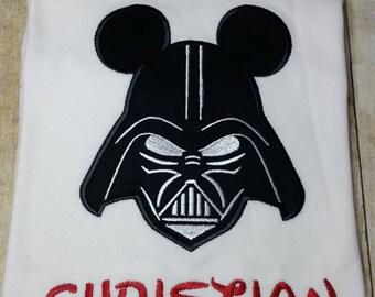 Darth Vader inspired applique shirt