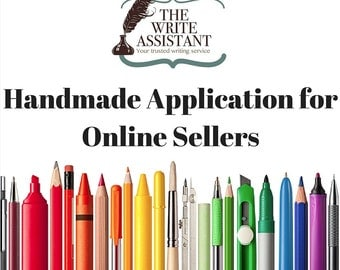 H@A Application - Handmade Seller Application - Writing Service - Applying to Sell Online - Help with Handmade Application - Copywriting