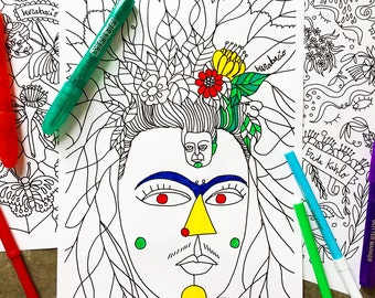 Printable Frida Kahlo Coloring Page