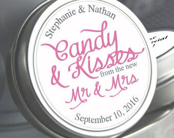 Wedding Favors - 12 Personalized Wedding  Mint Tins - Wedding Decor - Wedding Mints - Mint To Be - Mint Favors - Bridal Shower Favors