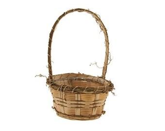 Flower Girl Basket- Natural bamboo flowergirl baskets