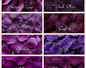 500 Purple Rose Petals - Silk Rose Petals