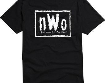 NWO New World Order Front Logo T Shirt Wrestling Bad Guys Classic Tee