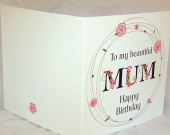 Handmade Mum Birthday Card
