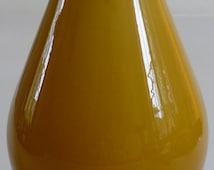Vintage Glassware - Vintage Mid Century Retro Amber Cased Glass Vase