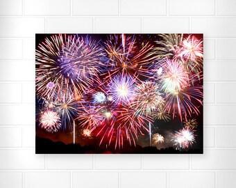 Patriotic Decor - Photo Print - Fourth of July Decor - Fireworks Photography - Patriotic Wall Art - Scenic Home Decor - Mount Veron Ohio