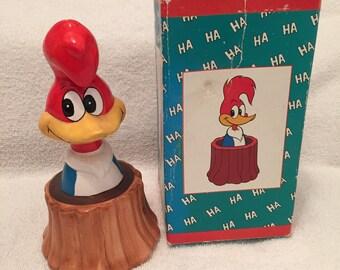 Vintage Woody Woodpecker Ceramic Penny Bank
