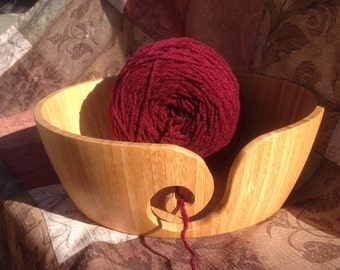 Yarn Bowl made from Bamboo wood