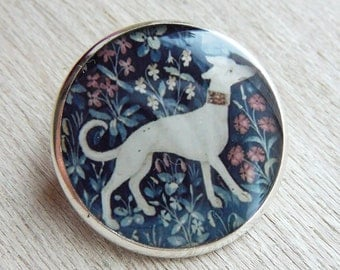 "Brooch ""Dog - The Lady and the Unicorn"""