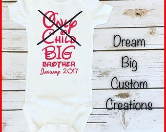 Big Brother or Sister Announcement Onesie or Tee