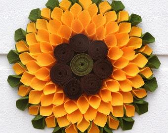 Sunflower Door Wreath, Front Door Wreaths, Home Decor, Home Gifts, Door Wreaths, Home Decorations, Door Decor, Gift For Mom, Gift For Women,