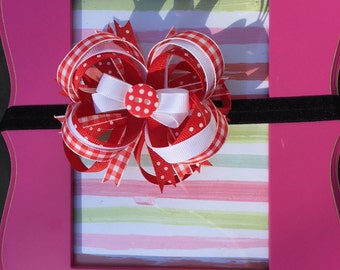 Red Loopy Bow