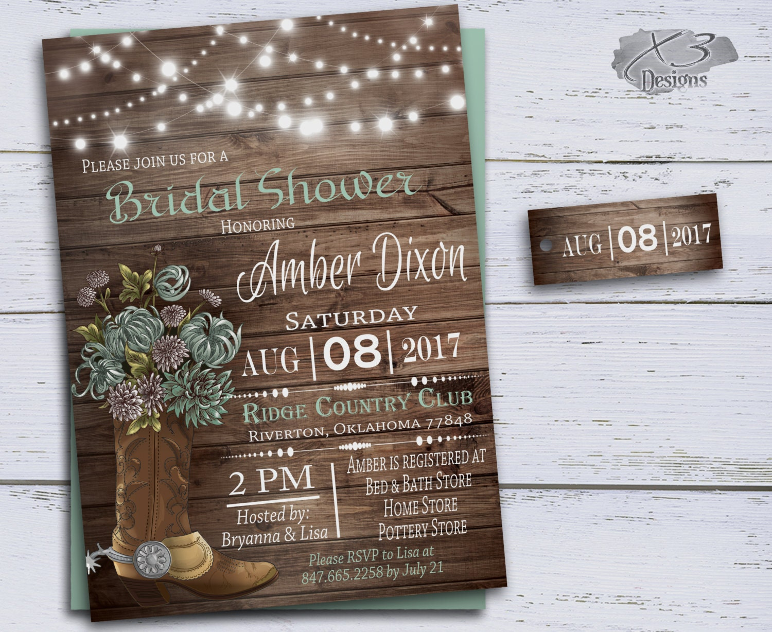Boots Wedding Invitations: Country Bridal Shower Invitations Cowboy Boots Wedding