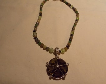 One of a kind hand made necklace  w/ Agate