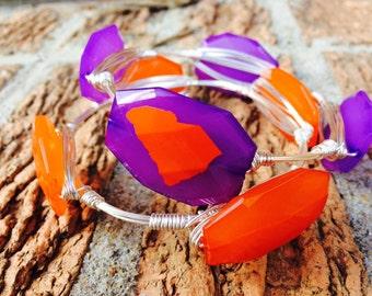 Orange and Purple Bangles