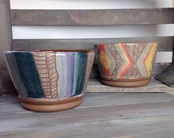 Purple Stripes Bowl
