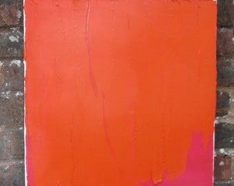 Bright Orange and Crimson abstract painting
