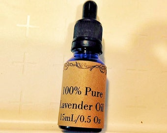 100% Pure Lavender Essential Oil, 15 mL/0.5 oz with Dropper