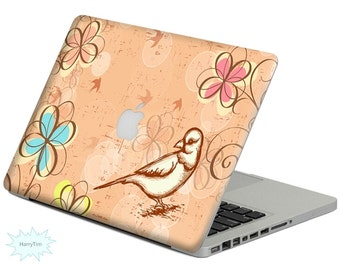 New flower and bird decal mac stickers Macbook decal macbook stickers apple decal mac decal stickers