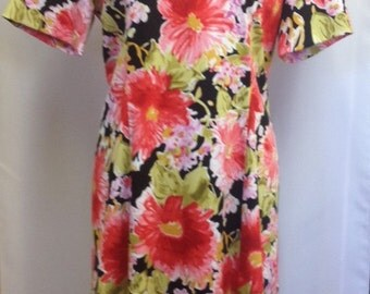Flowery empire line shift dress UK size 18