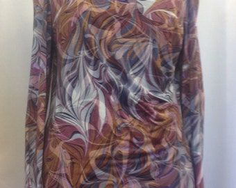 printed jersey top, with side ruching. UK size 14