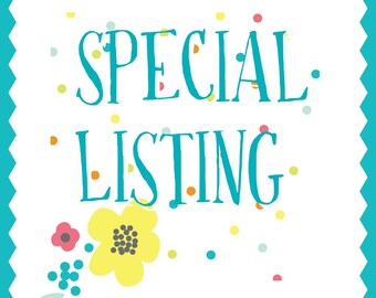 Special listing for Shauna