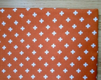 Custom Fitted Crib Sheet OR Pack N Play Portable Crib Sheet OR Changing Pad Cover Orange White Cotton